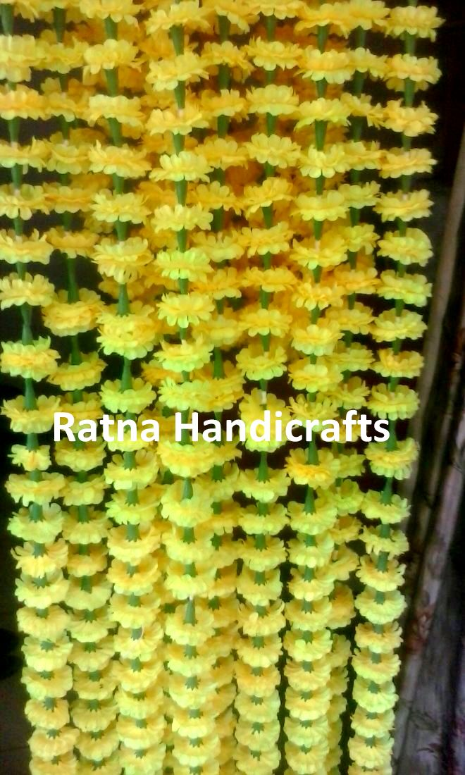Ratna-Handicrafts-Artificial-Marigold-Yellow-Garlands