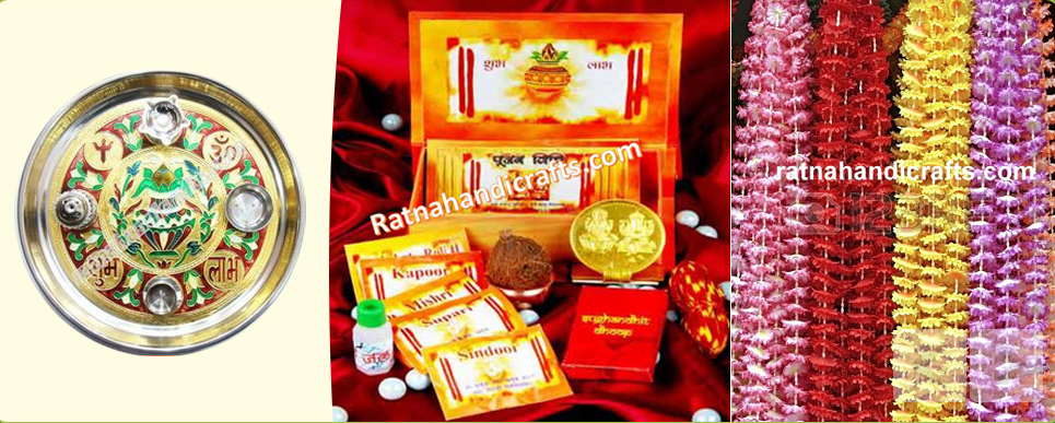 Thali, Pooja Box and Decoration Garlands