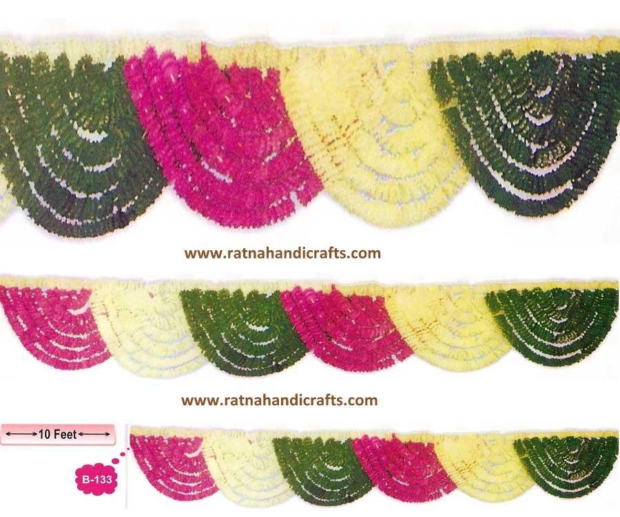 """Decorative Artificial Flower Toran B-133"" Manufacturer, Wholesaler, Exporter from Delhi, India. Ratna Handicrafts Delhi"